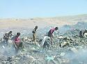 Iraq 2006 .People searching in a rubbish dump in Koysanjak.Irak 2006.Fouille dans un depot d'ordures a Koysanjak