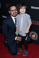"""HOLLYWOOD, LOS ANGELES, CA, USA - MARCH 20: Michael Pena, Roman Pena at the Los Angeles Premiere Of Pantelion Films And Participant Media's """"Cesar Chavez"""" held at TCL Chinese Theatre on March 20, 2014 in Hollywood, Los Angeles, California, United States. (Photo by David Acosta/Celebrity Monitor)"""