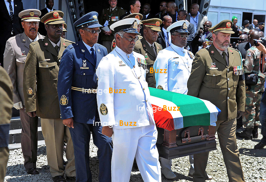 Qunu, South Africa: 15.12.2013: STATE FUNERAL FOR NELSON MANDELA<br /> The burial ceremony for former President Nelson Mandela in Qunu, Eastern Cape, South Africa