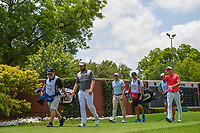 Tyrrell Hatton (ENG) leads the pack down 1 during round 1 of the 2019 Charles Schwab Challenge, Colonial Country Club, Ft. Worth, Texas,  USA. 5/23/2019.<br /> Picture: Golffile | Ken Murray<br /> <br /> All photo usage must carry mandatory copyright credit (© Golffile | Ken Murray)