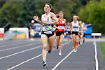 28 MAY 2016: Jacqueline of SUNY Geneseo crosses the finish line of the women's  3000 Steeplechase during the Division III Men's and Women's Outdoor Track & Field Championship held at Walston Hoover Stadium on the Wartburg College campus in Waverly, IA. Huben won the race with a time of 10:38.60.  Conrad Schmidt/NCAA Photos