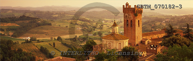 Tom Mackie, LANDSCAPES, panoramic, photos, San Miniato, Tuscany, Italy, GBTM070182-3,#L#