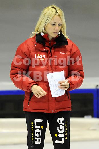 HEERENVEEN - Schaatsen, EK  kwalificatie dames 1500 meter, 26-12-2011, Liga coach Marianne Timmer.