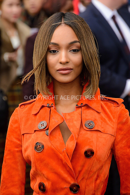 WWW.ACEPIXS.COM<br /> <br /> January 12 2015, London<br /> <br /> Jourdan Dunn attends the Burberry Prorsum Menswear A/W 2015 in Kensington Gardens on January 12 2015 in London<br /> <br /> <br /> By Line: Famous/ACE Pictures<br /> <br /> <br /> ACE Pictures, Inc.<br /> tel: 646 769 0430<br /> Email: info@acepixs.com<br /> www.acepixs.com