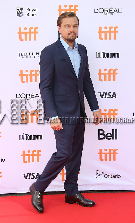 Leonardo DiCaprio attends 'Before The Flood' Red Carpet Premiere for the 2016 Toronto International Film Festival at Princess of Whales Theatre on September 8, 2016 in Toronto, Canada.