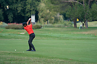 Shubhankar Sharma (IND) in action on the 8th hole during the third round of the 76 Open D'Italia, Olgiata Golf Club, Rome, Rome, Italy. 12/10/19.<br /> Picture Stefano Di Maria / Golffile.ie<br /> <br /> All photo usage must carry mandatory copyright credit (© Golffile | Stefano Di Maria)