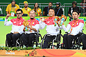 Japan team group (JPN), <br /> SEPTEMBER 18, 2016 - WheelChair Rugby : <br /> Medal Ceremony <br /> at Carioca Arena 1<br /> during the Rio 2016 Paralympic Games in Rio de Janeiro, Brazil.<br /> (Photo by AFLO SPORT)