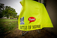 LOUISVILLE, KY - APRIL 30: The saddle cloth for Derby contender Battle of Midway outside barn 42 at Churchill Downs on April 30, 2017 in Louisville, Kentucky. (Photo by Alex Evers/Eclipse Sportswire/Getty Images)