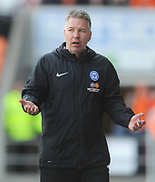 Peterborough United manager Darren Ferguson <br /> <br /> Photographer Kevin Barnes/CameraSport<br /> <br /> The EFL Sky Bet League One - Blackpool v Peterborough United - Saturday 13th April 2019 - Bloomfield Road - Blackpool<br /> <br /> World Copyright &copy; 2019 CameraSport. All rights reserved. 43 Linden Ave. Countesthorpe. Leicester. England. LE8 5PG - Tel: +44 (0) 116 277 4147 - admin@camerasport.com - www.camerasport.com