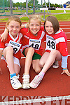 Laura Stack, Moira Flaherty and Eve Dowling Moyvane preparing to run in the u10 100m at the Denny County Community Games in An Riocht Castleisland on Sunday   Copyright Kerry's Eye 2008