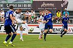 01.08.2020, C-Team Arena, Ravensburg, GER, WFV-Pokal, FV Ravensburg vs SSV Ulm 1846 Fussball, <br /> DFL REGULATIONS PROHIBIT ANY USE OF PHOTOGRAPHS AS IMAGE SEQUENCES AND/OR QUASI-VIDEO, <br /> im Bild Volleyschuss von Steffen Kienle (Ulm, #23)<br /> <br /> Foto © nordphoto / Hafner
