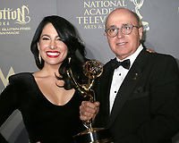 LOS ANGELES - APR 30:  Alejandra Oraa, Eduardo Suarez, Outstanding Entertainment Program in Spanish, Destinos in the 44th Daytime Emmy Awards Press Room at the Pasadena Civic Auditorium on April 30, 2017 in Pasadena, CA