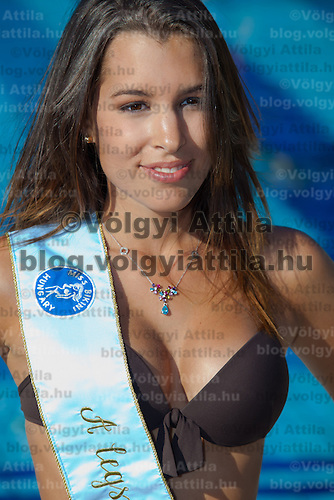 Fanni Krizsa won the prize for the most beautiful decolletage and placed third during the Miss Bikini Hungary beauty contest held in Budapest, Hungary. Sunday, 29. August 2010. ATTILA VOLGYI
