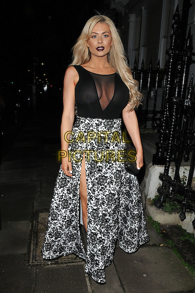 Nicola McLean attends the &quot;Perfect Eyelashes: The Ultimate Guideto Lash Extensions&quot; book launch party, Skin Associates, Wimpole Street, London, England, UK, on Thursday 26 November 2015.<br /> CAP/CAN<br /> &copy;CAN/Capital Pictures