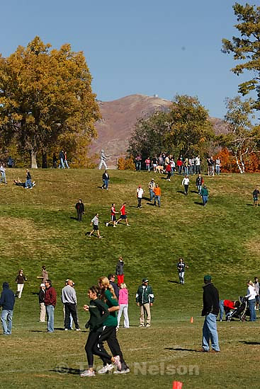 Salt Lake City - 2A boys high school cross country state championship race at sugarhouse park. fans