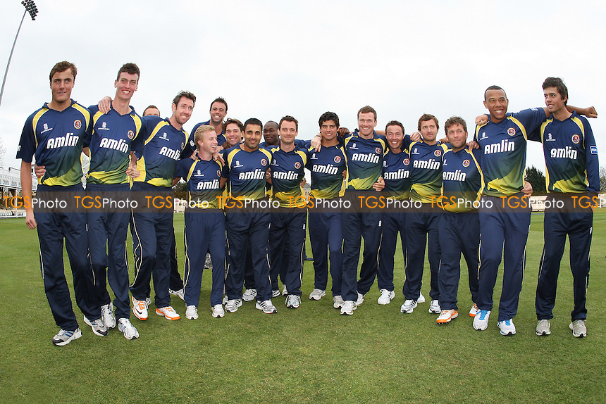 Essex players pose for a team photo in their Friends Provident T20 kit - Essex CCC Press Day at The Ford County Ground, Chelmsford - 05/04/11 - MANDATORY CREDIT: Gavin Ellis/TGSPHOTO - Self billing applies where appropriate - Tel: 0845 094 6026
