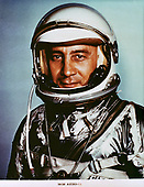 "Portrait of Astronaut Virgil I. (Gus) Grissom, pilot of the Mercury-Redstone 4 (MR-4) spaceflight taken sometime in 1961. (NOTE: Astronaut ""Gus"" Grissom, one of the original seven astronauts, born on April 3, 1926, died Jan. 27, 1967, at NASA's John F. Kennedy Space Center (KSC), Cape Canaveral Florida, in the Apollo 1 spacecraft fire.)<br /> Credit: NASA via CNP"