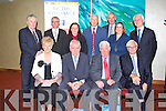 VICTIM ASSISTANCE: The Minister for for Arts, Heritage and the Gaeltacht Affairs Jimmy Deenihan with the committee speakers at the Federation for Victim Assistance National Conference at the Manor West hotel, Tralee on Saturday seated l-r: Mairead Fernane (chairperson V.A.), Minister for for Arts, Heritage and the Gaeltacht Affairs Jimmy Deenihan, Derek Nally (president V.A.) and Professor Jan Van Dijk (University of Tilburg, Netherlands). Back l-r: Mark Fielding (CEO, ISME), Peter Keeley (Executive director, Restorative Justice Services), Mary O'Byrne (National treasurer V.A.), Tony Fagan (PRO V.A.), Michael Bennett (Vice chairperson V.A.), Deborah Mulvey (Secretary V.A.) and Greg Heylin (Director of Crime Office, Dept. of Justice.