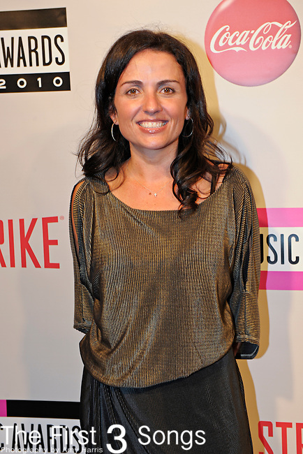 """Jenni Pulos, from the Bravo reality television series """"Flipping Out"""", attends the 2010 """"American Music Awards"""" Pre-Party Charity Bowl Tournament hosted by Dick Clark Productions at Lucky Strike in Los Angeles, California."""