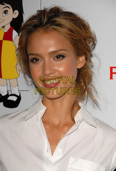 JESSICA ALBA .The 7th Annual El Sueno de Esperanza Benefit Gala to raise funds for Padres Contra El Cancer held at The Lot in West Hollywood, California, USA..October 18th, 2007.headshot portrait.CAP/DVS.©Debbie VanStory/Capital Pictures