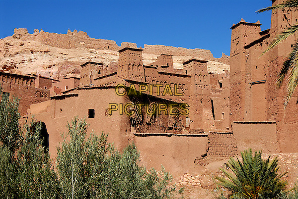 World heritage site of Ait Benhaddou. Morocco (This famous kasbah was used as a backdrop for more than 20 films atmosphere gv general view travel rock stone buildings.CAP/CJ.©Chris Joseph/Capital Pictures.