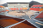 PyeongChang Olympic Stadium, Oct 30, 2017 : PyeongChang Olympic Stadium of the 2018 PyeongChang Winter Olympics is seen under construction in PyeongChang, east of Seoul, South Korea. The 23rd Winter Olympics will be held for 17 days from February 9 - 25, 2018. The opening and closing ceremonies and most snow sports will take place in PyeongChang county. Jeongseon county will host Alpine speed events and ice sports will be held in the coast city of Gangneung. (Photo by Lee Jae-Won/AFLO) (SOUTH KOREA)