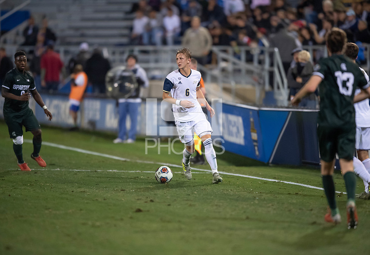 Santa Barbara, CA - Friday, December 7, 2018:  Akron men's soccer defeated Michigan State 5-1 in a semi-final match in the 2018 College Cup.  Skye Hunter.
