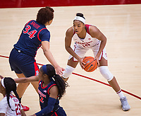 STANFORD, CA - February 22, 2019: Maya Dodson at Maples Pavilion. The Stanford Cardinal defeated the Arizona Wildcats 56-54.