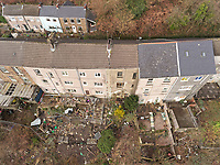 2019 02 11 House to be demolished due to landslides, Ystalyfera, Wales, UK