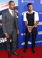 "HOLLYWOOD, LOS ANGELES, CA, USA - AUGUST 07: Damon Wayans Jr., Damien Wayans at the Los Angeles Premiere Of 20th Century Fox's ""Let's Be Cops"" held at ArcLight Cinemas Cinerama Dome on August 7, 2014 in Hollywood, Los Angeles, California, United States. (Photo by Xavier Collin/Celebrity Monitor)"
