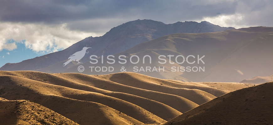 Rolling hills, Waitaki Valley, North Otago, New Zealand - stock photo, canvas, fine art prints