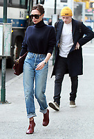 NEW YORK, NY - FEBRUARY 9: Victoria Beckham and Brooklyn Beckham seen in New York City while in town for NY Fashion Week on February 09, 2018. Credit: RW/MediaPunch
