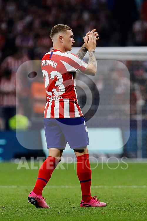Kieran Trippier of Atletico de Madrid during La Liga match between Atletico de Madrid and Real Madrid at Wanda Metropolitano Stadium{ in Madrid, Spain. {iptcmonthname} 28, 2019. (ALTERPHOTOS/A. Perez Meca)