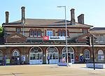 Exterior of railway train station building, Ipswich, Suffolk, England, UK