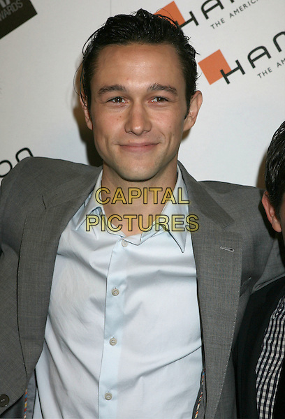JOSEPH GORDON-LEVITT.2009 Hamilton Behind The Camera Awards Presented By Movieline.com at The Highlands, Hollywood, California, USA..November 8th, 2009.half length grey gray suit jacket blue shirt .CAP/ADM/MJ.©Michael Jade/AdMedia/Capital Pictures.