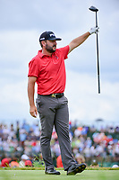 Stephan Jaeger (GER) watches his tee shot on 7 during Saturday's round 3 of the 117th U.S. Open, at Erin Hills, Erin, Wisconsin. 6/17/2017.<br /> Picture: Golffile | Ken Murray<br /> <br /> <br /> All photo usage must carry mandatory copyright credit (&copy; Golffile | Ken Murray)
