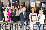 Claire Bowler (centre) has been presented with 2015 Annual President's Award of Soroptimist International of Killarney and District by Noeleen O'Sullivan (President of Soroptimist International of Killarney and District) and John Joe Culloty (Major of Killarney) for her dedication to the carers for over the past 23 years. Presentation was taking place in the Gleneagle Hotel, Killarney last Saturday night.<br /> Pictured with Front L-R Catherine Mc Mullin, Theresa Irwin, Sheila Casey, Anne O'Leary and Eilish O'Sullivan, Back L-R Elizabeth Mc Carthy, Emer Moynihan, Anne Wrenn, Margaret Scally, Eileen Foley, Peggy Reichert, Catherine Gleeson and Ann O'Connor.