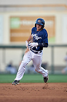 Lakeland Flying Tigers second baseman Will Maddox (3) running the bases during a game against the Jupiter Hammerheads on April 17, 2017 at Joker Marchant Stadium in Lakeland, Florida.  Lakeland defeated Jupiter 5-1.  (Mike Janes/Four Seam Images)