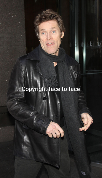 NEW YORK, NY - DECEMBER 3: Willem Dafoe at SiriusXM promoting his new movie Out of the Furnace&quot;. New York City. December 3, 2013. <br /> Credit: MediaPunch/face to face<br /> - Germany, Austria, Switzerland, Eastern Europe, Australia, UK, USA, Taiwan, Singapore, China, Malaysia, Thailand, Sweden, Estonia, Latvia and Lithuania rights only -