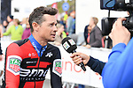 Nicolas Roche (IRL) BMC Racing Team at sign on before the start of Stage 3 of the 2018 Artic Race of Norway, running 194km from Honningsvg to Hammerfest, Norway. 18th August 2018. <br /> <br /> Picture: ASO/Pauline Ballet | Cyclefile<br /> All photos usage must carry mandatory copyright credit (© Cyclefile | ASO/Pauline Ballet)
