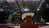 21st March 2018, Arena Birmingham, Birmingham, England; Gymnastics World Cup, day one, womens competition; Hitomi Hatakeda (JPN) during her Vault in  Training