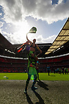Tranmere Rovers 1 Forest Green Rovers 3, 14/05/2017. Wembley Stadium, Conference play off Final. Liam Noble of Forest Green Rovers celebrates promotion on the shoulders of Shamir Mullings, after the Vanarama Conference play off Final  between Tranmere Rovers v Forest Green Rovers at the Wembley. Photo by Paul Thompson.