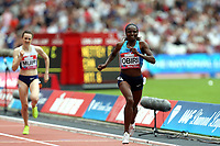 Hellen Obiri of Kenya completes in the womenís one mile during the Muller Anniversary Games at The London Stadium on 9th July 2017