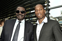 31st March 2020, France; It has been announced that Pape Diouf, ex-President of League 1 football club in France has died from Covid-19 Coroma Virus. 2010/2011 - INAUGURATION OF DIDIER DROGBAS STADIUM IN LEVALLOIS PERRET - 29/09/2010 - DIDIER DROGBA AND PAPE DIOUF