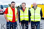 Brian Freeman, Jack O'Connor and Eamon Leen, working hard behind the scenes the Abbeydorney Vintage Society Charity Truck Run in aid of Childline on Sunday