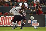 22 August 2009: Chivas USA's Maicon Santos (BRA) (29) and Toronto's Marvell Wynne (16). CD Chivas USA played Toronto FC at the Home Depot Center in Carson, California in a regular season Major League Soccer game.