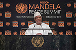 Opening Plenary Meeting of the Nelson Mandela Peace Summit<br /> <br /> His Excellency Ibrahim Boubacar KEITAPresident of the Republic of Mal