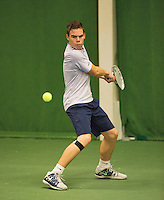 01-12-13,Netherlands, Almere,  National Tennis Center, Tennis, Winter Youth Circuit, Patric Speelman  <br /> Photo: Henk Koster