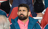 Diego Costa of Atletico Madrid pre match during the UEFA Europa League Semi Final 1st leg match between Arsenal and Atletico Madrid at the Emirates Stadium, London, England on 26 April 2018. Photo by Andy Aleksiejczuk / PRiME Media Images