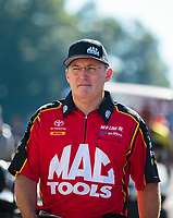 Sep 16, 2018; Mohnton, PA, USA; NHRA top fuel driver Doug Kalitta during the Dodge Nationals at Maple Grove Raceway. Mandatory Credit: Mark J. Rebilas-USA TODAY Sports